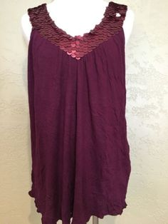 Women's MATTY M Flowy Flattering Maroon Sequin Trendy Fashion Tank Top Designer   eBay