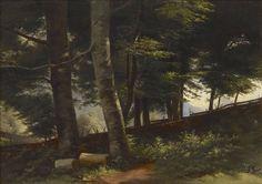 Inside the Forest, 1871-1872 – öljy kankaalle, kiinnitetty kovalevylle – Churberg, Fanny  (1845-1892),  Ateneumin taidemuseo