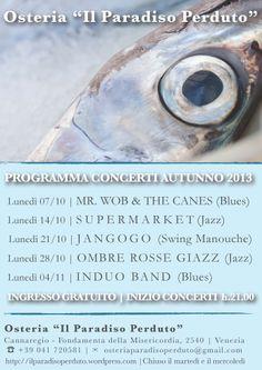 Programma concerti autunno 2013