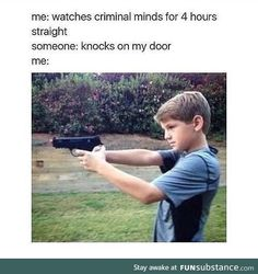 Maybe after reading these true crime memes, you won't even need to talk about Ted Bundy at Thanksgiving dinner this year. Watch Criminal Minds, Criminal Minds Memes, Spencer Reid Criminal Minds, Really Funny Memes, Stupid Memes, Funny Relatable Memes, Funny Stuff, Crimal Minds, True Crime