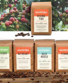 Coffee branding - Showcase of Creative Packaging Designs for Coffee Brands – Coffee branding Food Packaging Design, Coffee Packaging, Coffee Branding, Coffee Labels, Bottle Packaging, Beer Labels, Biggby Coffee, Label Design, Bag Design