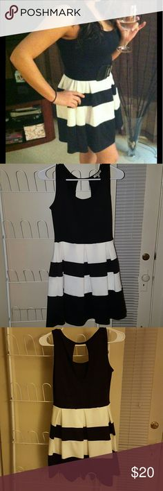 Black and White dress. Very cute classic dress does not come with belt but looks super cute with one. Charlotte Russe Dresses Mini