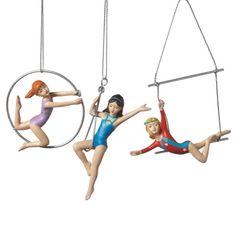 Acrobat Girl Circus Christmas Ornaments (Set of 3)