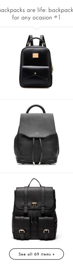 """""""Backpacks are life: backpacks for any ocasion #1"""" by isabella-joelie ❤ liked on Polyvore featuring backpack, women, womensbackpacks, bags, backpacks, newchic, accessories, black, backpack bags and pu leather backpack"""