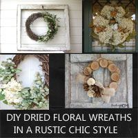 diy dried floral wreath ideas in a rustic chic style
