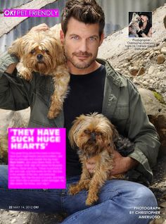 For all you ladies. My OK! Pets page in OK! magazine this week we feature Mark Deklin who stars on the ABC hit show GCB. Pick up a copy on stands and read about Marks little loves.