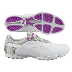 LOVE the new Puma Sunnylite V2 Golf Shoe in White with Purple Cactus Flower #golf4her.com #spring16