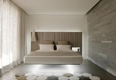 Fluttua Bed by Daniele Lago a technological wall-mounting system ...