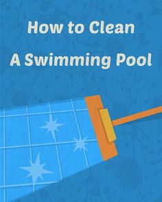 your includes: skimming, and brushing. If you do these tasks every week, you will keep your pool clean. It also helps to keep algae, stains, and cloudy water from occurring. Pool Cleaning Tips, Cleaning Hacks, Spring Cleaning, Swimming Pool Maintenance, Diy Pool, Pool Backyard, Pool Fun, Backyard Games, Tips