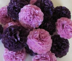 Lilac Purple Button Mums Tissue Paper Flowers. The ladies at the willow could always use some cheering up. Everyone loves flowers.