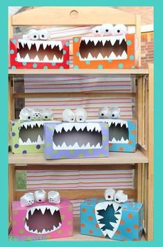 DIY CRAFTS - Great idea for Elementary students. Tattle Monster! Put the tattle in the box instead of telling the teacher. @signaturejeans
