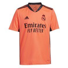 adidas - T-shirt de guarda-redes de criança 2.º equipamento Real Madrid CF 2020-2021 Laranja 11