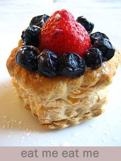 Strawberry and Blueberry Tart with Puff Pastry