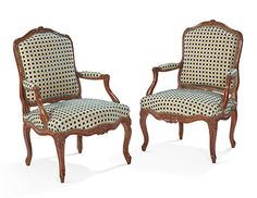 Pair of French Louis XV period fauteuils Antique Furniture, French Country, Period, Chair, Antiques, Home Decor, Lounge Chairs, Recliner, Homemade Home Decor