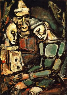"Georges Rouault ""Three Clowns"", 1920 (France, Expressionism, 20th cent.)"