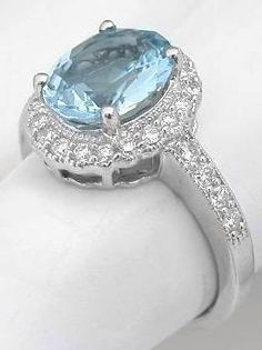 Gorgeous pale blue ring