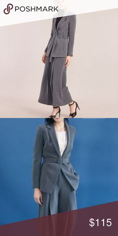 NWT Atterley Road Suit - BLAZER A truly unique pant suit crafted in a traditional fabric into an untraditional shape. You won't be bored wearing this one to the office! It's an Australian Size 14 but it runs small and would work well for a US Size 8-10. Both blazer and Pants are brand new, never worn. Blazer and pants are in separate listings - bundle to save! Atterley Road Jackets & Coats Blazers