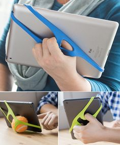 The Padlette is a secure, one-handed handle for your tablet. It makes it easier to work with and hold on to, and makes it much less likely that you'll drop it.