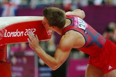 Samuel Mikulak of United States reacts after competing in the Artistic Gymnastics Men's Vault final on Day 10 of the London 2012 Olympic Games at North Greenwich Arena on August 6, 2012 in London, England.