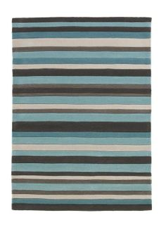 Think Rugs Hong Kong Blue Tufted Rug - 60 cm x 120 cm (2 ft x 3 ft 9 in)