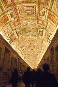 Corridors of the Vatican, Rome.