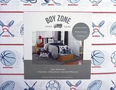Amazon.com: Boy Zone 3 Piece Twin Sheet Set Sports Balls Basketball Baseball Football Helmets Hocky Pucks: Home & Kitchen
