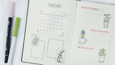 February Bullet Journal Setup   Inspiration for Success