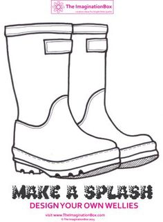 Make a splash this Spring - design your own funky wellies! Frogs, spots, stripes? Explore shape, colour and design with this free download activity.