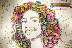 Beleza Natural: Serpentina Ad for Carnival Art For Kids, Crafts For Kids, Arts And Crafts, Diy Crafts, Pub Design, Design Art, Theme Carnaval, Circus Art, Creative Advertising