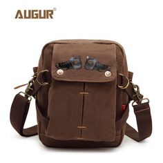 74e70189db AUGUR Vintage Men Messenger Bag Satchels Canvas Crossbody Bags Small  Designer Shoulder Bags for Men Handbags-in Crossbody Bags from Luggage    Bags on ...