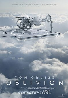 Oblivion. Saw this. Okay movie. Took a long time to develop the story. Great visuals though.  Must see it in  an IMAX. Nikolaj Coster -Waldau (Jaime Lannister) from Games of Thrones is in this movie and when he first appeared there was this audible surprise gasp from the movie audience. Pretty cool.