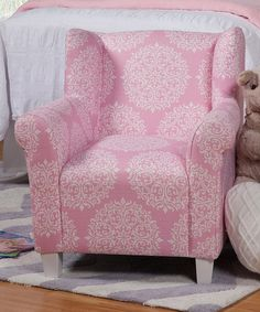 Look at this Pink Medallion Kids' Chair on #zulily today!