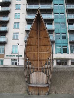 Cool benches made from old boats...