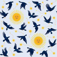 Ravens' Dance #raven #pattern #sun #dance