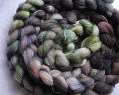 hand-dyed merino roving.