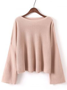 GET $50 NOW | Join RoseGal: Get YOUR $50 NOW!http://www.rosegal.com/sweaters/bell-sleeves-ribbed-knitted-pullover-772757.html?seid=6145535rg772757