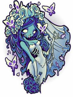 pinup style Corpse Bride