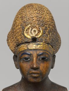 *EGYPT ~ Detail of the face of a wooden statue of AMENHOTEP III. Pharaoh of the XVIII Dynasty of the New Empire. Reign 1391 to 1353 a. Father of Akhenaten and grandfather of Tutankhamun. Kemet Egypt, Egyptian Pharaohs, Ancient Egyptian Art, Ancient Aliens, Ancient History, Amenhotep Iii, Ancient Mysteries, Ancient Artifacts, Art Asiatique