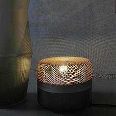 Lampe à poser Steel Drop Small, noir, cuivre, dessinée par Studio E27 pour…