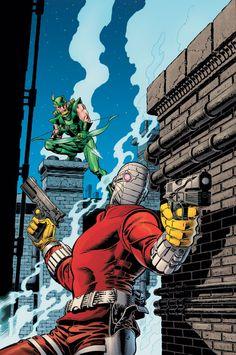 Green Arrow vs Deadshot by Mike Zeck