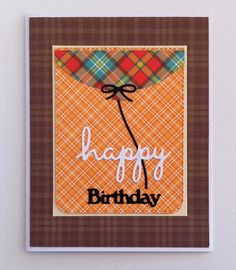 Card balloons balloon on a string, scripty happy birthday, Lawn Fawn Perfectly Palid paper fall autumn - JKE
