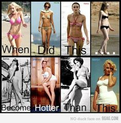 So true. I hate seeing beautiful girls who look healthy and fit think they are fat because they don't look twiggy. Naturally tiny, skinny women are very few and far between.Thin women are beautiful too, but embrace those hips and those boobs! Fitness Motivation, Fitness Fun, Fitness Quotes, Health Fitness, Motivation Wall, Funny Fitness, Personal Fitness, Exercise Motivation, Daily Motivation
