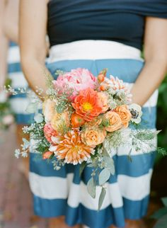 A bright floral mix brights lots of colorful contrast