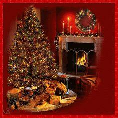 Very beautiful christmas gif Merry Christmas Gif, Christmas Scenery, Christmas Mood, Christmas Pictures, Christmas Lights, Vintage Christmas, Xmas, Gold Christmas Decorations, Christmas Fireplace
