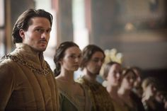 George (David Oakes), Duke of Clarence, and his wife Duchess Isabel (Eleanor Tomlinson).
