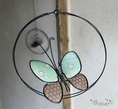 BlueLuenn - Page 2 - BlueLuenn Butterfly Ornaments, Wire Ornaments, Butterfly Crafts, Wire Hanger Crafts, Wire Crafts, Sculptures Sur Fil, Copper Wire Art, Twig Art, Wire Art Sculpture