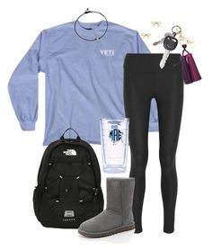 """""""Comfortable and Cute"""" by robramey17 ❤ liked on Polyvore featuring NIKE, The North Face, UGG Australia, H&M, Tervis and Kate Spade"""