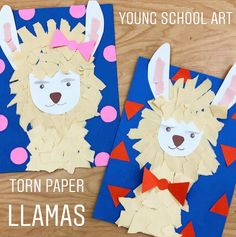 I've been wanting to make a llama craft for months! What an interesting looking animal! These little guys were a challenge! Farm Animal Crafts, Animal Crafts For Kids, Toddler Crafts, Art For Kids, Llamas Animal, Kindergarten Art Projects, Homeschool Kindergarten, Classroom Crafts, Classroom Ideas
