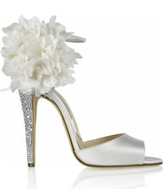 white flower shoe