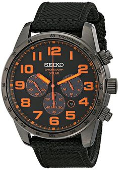 Amazon.com: Seiko Men's SSC233 Sport Solar Brushed Stainless Steel Watch: Seiko: Watches
